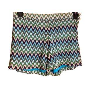 C. Luce crochet Chevron multicolored shorts Large